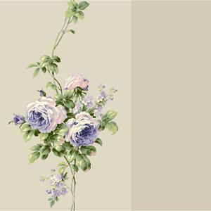 Rose Stripe Wallpaper BA4569