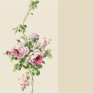Rose Stripe Wallpaper BA4570