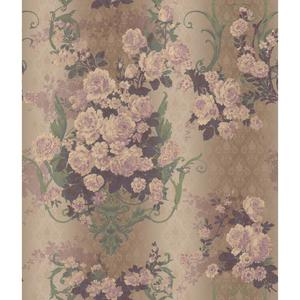 Charleston Bouquet Damask Wallpaper AR7701