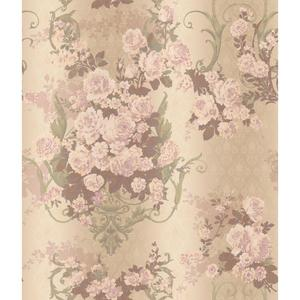 Charleston Bouquet Damask Wallpaper AR7703