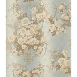 Charleston Bouquet Damask Wallpaper AR7704
