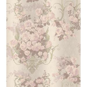 Charleston Bouquet Damask Wallpaper AR7705