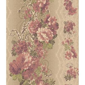 Charleston Floral Stripe Wallpaper AR7722