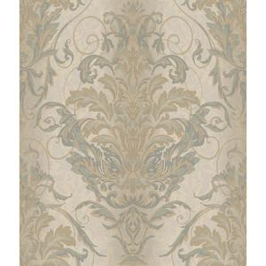 Charleston Ombre Damask Stripe Wallpaper AR7748