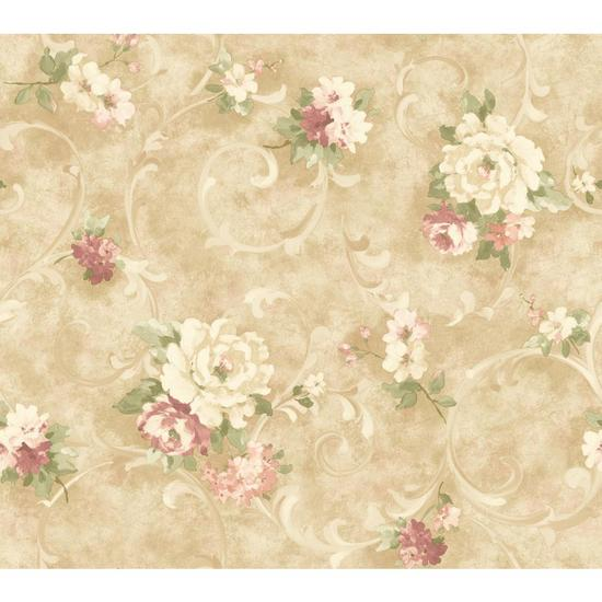Painterly Scroll Wallpaper HP0312