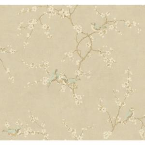 Birds W/Blossoms Wallpaper HP0325