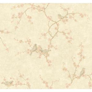 Birds W/Blossoms Wallpaper HP0328