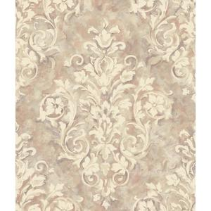 Painterly Damask Wallpaper HP0364