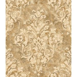 Painterly Damask Wallpaper HP0365