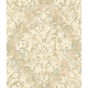 Painterly Damask Wallpaper HP0367