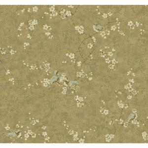 Birds W/Blossoms Wallpaper HP5568