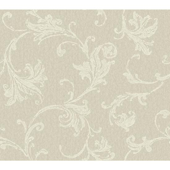 Burlap Textured Scroll Wallpaper CR2788
