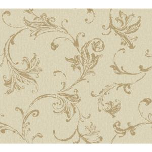 Burlap Textured Scroll Wallpaper CR2790