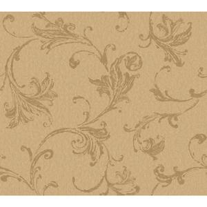 Burlap Textured Scroll Wallpaper CR2792