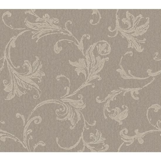 Burlap Textured Scroll Wallpaper CR2793