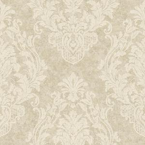 Distressed Damask Spot Wallpaper CR2804