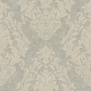 Distressed Damask Spot Wallpaper CR2807
