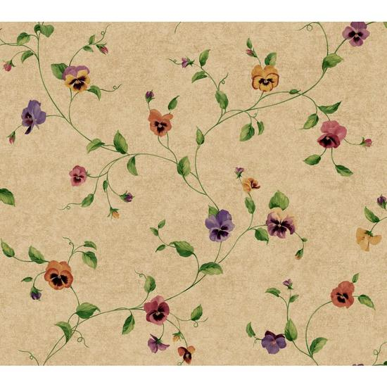 Pansy Trail Wallpaper KH7015
