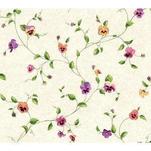Pansy Trail Wallpaper KH7016