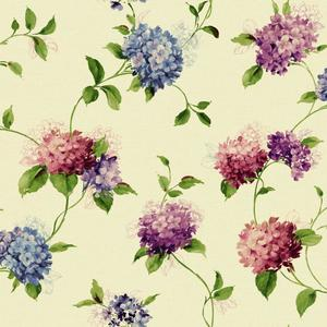 Hydrangea Trail Wallpaper KH7072