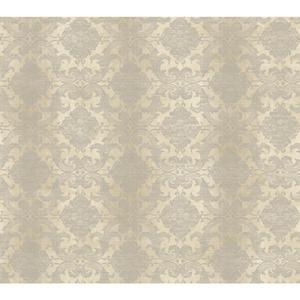 Woven Damask W/Stripe Wallpaper NK2115