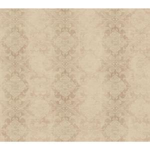 Woven Damask W/Stripe Wallpaper NK2117