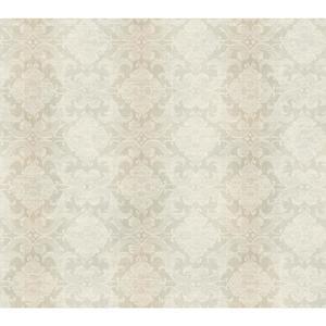 Woven Damask W/Stripe Wallpaper NK2119
