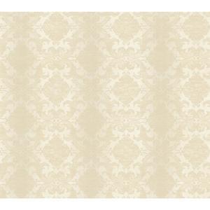 Woven Damask W/Stripe Wallpaper NK2120