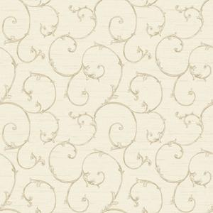 Small Decorative Scroll Wallpaper NK2150