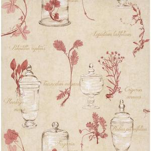 Herb and Glass Collage Wallpaper PA110201