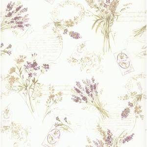 Toile Botanical Wallpaper PA110303
