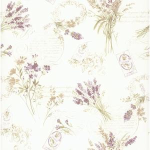 Toile Botanical Wallpaper PA110303