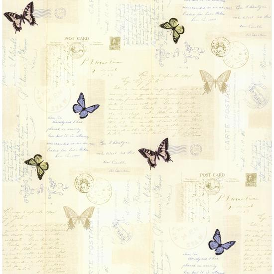 Butterfly Mail Wallpaper PA110503
