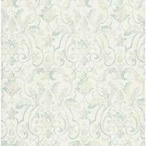 Embossed Damask Wallpaper PA110604