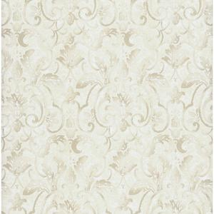 Embossed Damask Wallpaper PA110606