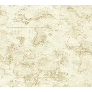 Coastal Map Wallpaper NY4835