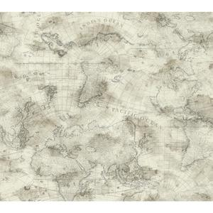 Coastal Map Wallpaper NY4836