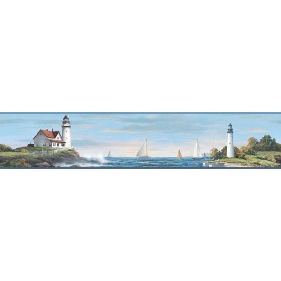 Sailing Lighthouse Border NY4815BD