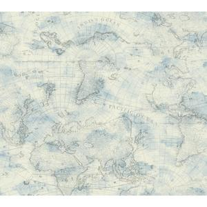 Coastal Map Wallpaper NY4834