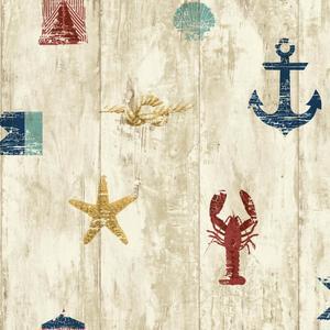 Weathered Seashore Wallpaper NY4882