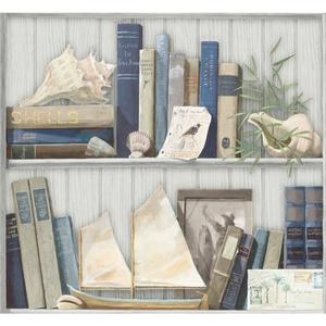 Coastal Library Wallpaper NY4889