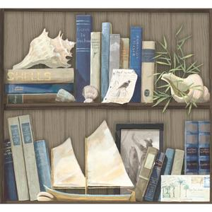 Coastal Library Wallpaper NY4890
