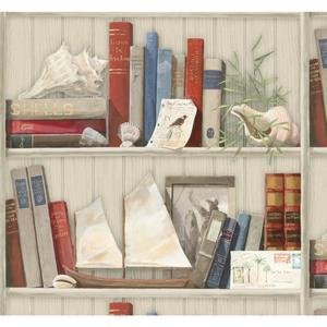 Coastal Library Wallpaper NY4891