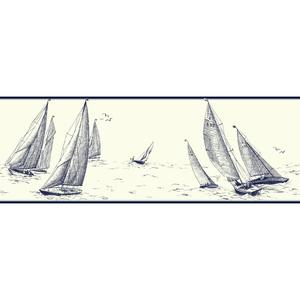 Sailboat Border NY4921B