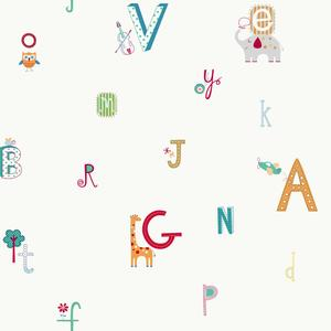 Alphabet And Animal Wallpaper YS9124