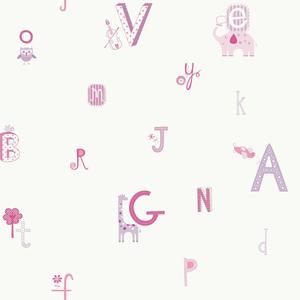 Alphabet And Animal Wallpaper YS9125