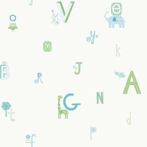 Alphabet And Animal Wallpaper YS9126