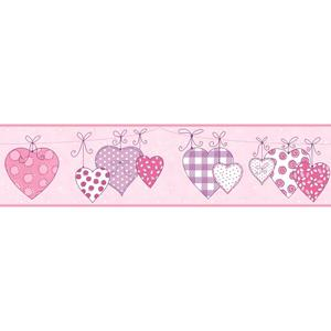Clothesline Of Patterned Hearts Border YS9159BD