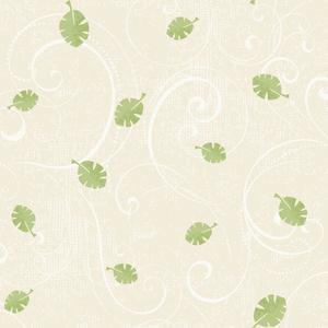 Leaf Scroll Wallpaper YS9182