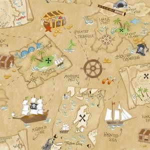 Pirate Map Wallpaper YS9294
